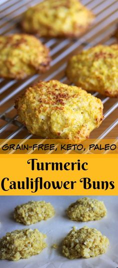 Try these Grain-Free Turmeric Cauliflower Buns for a super healthy side dish that is paleo and keto-diet friendly. Only 4 ingredients.
