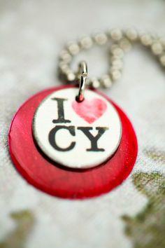 Dotti I Heart CY Charm Necklace. $20.00, via Etsy. @Iowa State Athletics