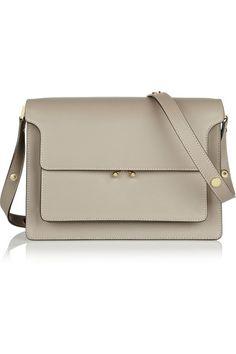 trunk leather shoulder bag / marni