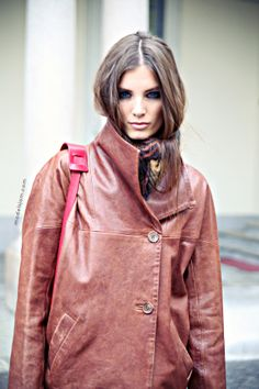 Ava Smith are we gonna have to duke it out for that oxblood jacket? Represent #offduty in Milan