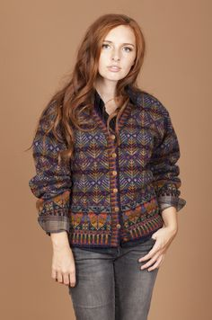 Oregon cardigan in Fall colorway by Alice Starmore I have this pattern, need to get my rear in gear and knit it!!