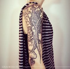 See What This Tattoo Artist Is Doing With B+W Design via Brit + Co.