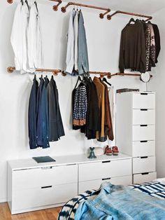 Soluções em armários abertos. Retirado da internet