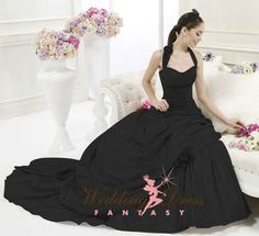 Black Wedding Dress from Wedding Dress Fantasy #black #bridal #gown