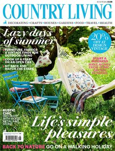 Country Living magazine August 2014 cover countryliving.co.uk