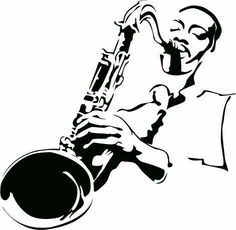 jazz art black and white - Go Music Silhouette, Music Clipart, Music Drawings, Jazz Art, Stencil Art, Stencils, Jazz Musicians, Art Graphique, Banksy