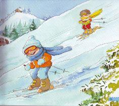 Praatplaat kleuters, wintersport Converse, Children's Book Illustration, Toddler Preschool, Disney Characters, Fictional Characters, Seasons, Poster, Weather, Games