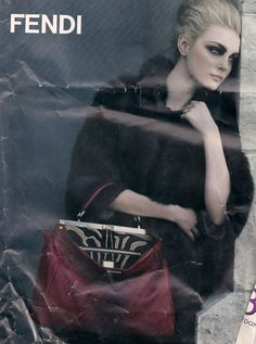 I love this Fendi ad. Tore it out of an issue of Vogue/Elle a few years back