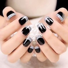 33 + Continue to offer 2019 nail designs series, 33 + Continue to offer 2019 nail designs series - 1 In we continue to offer spectacular nail designs for ladies. What you guys should do! Finger Nail Art, Nail Time, Sparkle Nails, Artificial Nails, Nail Art Hacks, Square Nails, Beauty Nails, Black Nails, Matte Black