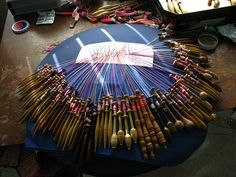 bobbin lace-Setting up to begin