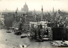 London, The City and the River c1908
