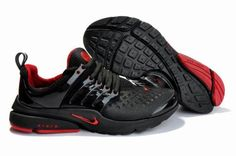 new product d2c20 0632c Nike Air Presto 2011 Black Red Running Shoes