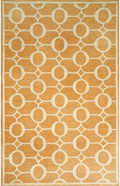 Trans Ocean Spello Outdoor Arabesque Orange Rug. 10% Off on Trans Ocean Rugs! Area rug, carpet, design, style, home decor, interior design, pattern, trend, statement, summer, cozy, sale, discount, free shipping.