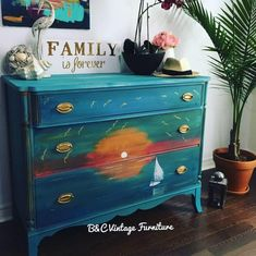This item is unavailable Painting Old Furniture, Painted Furniture, Narrow Dresser, Childhood Stories, Find My Passion, Love Painting, Vintage Furniture, My Etsy Shop, Handmade Gifts