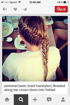 Simple French fishtail