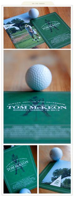 a tee-rific golf party invite
