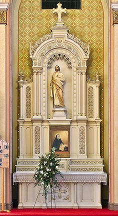 Saint Peter Roman Catholic Church, in Saint Charles, Missouri, USA - altar of Saint Jospeh by msabeln, via Flickr