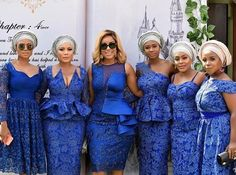Trendy and Stylish Ankara style Joselyn Dumas - Reny styles Lace Dress Styles, African Lace Dresses, African Fashion Dresses, Nigerian Dress Styles, Ankara Styles, African Fashion Traditional, African Attire, African Wear, African Style