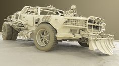 I worked on this post apocalyptic vehicle for a while, it's inspired from mad max world. It's still WIP but i am almost done with it, then i will move for texturing! The clay render is done in Keyshot!