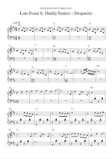 play popular music, Luis Fonsi ft. Daddy Yankee - Despacito, free piano sheet music