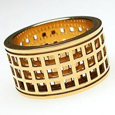 GUCCI SPINNING WIDE BAND RING SOLID 18K GOLD