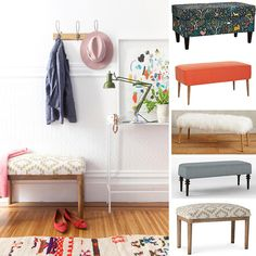 Upholstered bench round up from @pjfeinstein