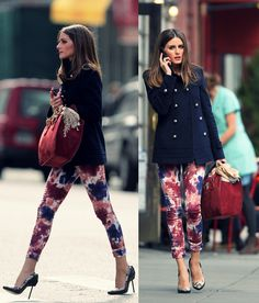 Now, I can't stop thinking about getting floral pants! Look at Olivia Palermo's chic style!