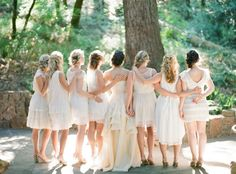 Mismatched bridesmaids Mismatched Bridesmaid Dresses in Neutral Colors photo Bohemian Bridesmaid, Mismatched Bridesmaid Dresses, Bridesmaid Dress Colors, Brides And Bridesmaids, Wedding Dresses, Maid Of Honor, Wedding Styles, Rustic Wedding, Wedding Inspiration