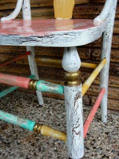 Rustic+hand+painted+wooden+chair+by+wouldchuckWOOD+on+Etsy,+$150.00