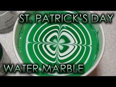 Patrick's Day (or Spartan) Water Marble Nail Art Tutorial (Water Marble March Nail Art Diy, Easy Nail Art, Diy Nails, Manicure, Saint Patricks Day Art, St Patricks Day Nails, Water Marble Nail Art, Water Nails, Green Nail Polish
