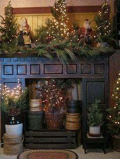 Decorated Christmas Homes christmas home tour} burlap and velvet stockings, barnwood framed