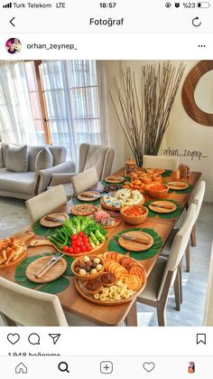 Image may contain: people sitting, table, indoor and food - - Breakfast Presentation, Food Presentation, Brunch, Turkish Breakfast, Cooking Recipes, Healthy Recipes, Food Decoration, Table Decorations, Big Meals