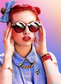 """Alexandre Korobov"" - Art Print by Alexandre Korobov from INPRNT. Saved to Art Prints. Portrait Images, Portraits, Creative Illustration, Illustration Art, Ray Ban Sunglasses Sale, Sunglasses 2016, Sunglasses Outlet, Estilo Rock, Shady Lady"