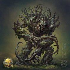 Woodmonster by gugu-troll on DeviantArt Tree Monster, Plant Monster, Monster Art, Dark Fantasy Art, Fantasy Artwork, Fantasy World, Fantasy Forest, Creature Concept Art, Creature Design
