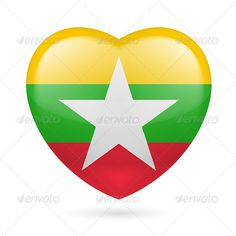 Heart Icon of Myanmar  #graphicriver