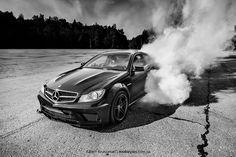 Mercedes-Benz C63 AMG Coupe burnout by Albert Arutiunian