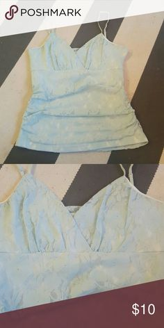 Funkadelic large blue lace tank lined size large worn once Excellent condition  stretch material funkadelic Tops Tank Tops