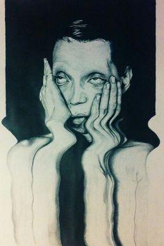 Glitch Art, Art Sketches, Art Drawings, Distortion Art, Arte Dope, Arte Obscura, Ap Art, Psychedelic Art, Surreal Art