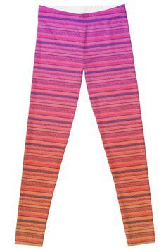 4e097aff1d2b04 Refracted Stripes Sunset Leggings by TC-TWS Yoga Pants, Capri Pants, Pajama  Pants