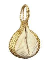 Potli Bag in Cream - Pondicherry Online Boutique Potli Bags, Ethnic Wear Designer, Market Bag, Decorative Bells, Online Boutiques, Fashion Accessories, Wedding Bags, Pondicherry, Inspiration