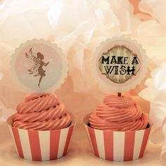 Printable Fairy Make-A-Wish Cupcake Topper by The Gypsy Factory, via Flickr