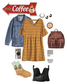 """Fall Fashion"" by burnttoasts on Polyvore featuring HOT SOX, Dr. Martens and Kate Spade"