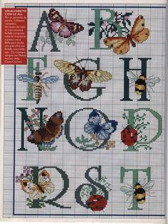 Letras e borboletas