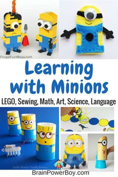 These Minions activities for kids have a learning twist to them! Try 9 super fun minions ideas. These Minions activities for kids have a learning twist to them! Try 9 super fun minions ideas. Kids Learning Activities, Hands On Activities, Stem Activities, Educational Activities, Minions, Play Based Learning, Fun Learning, Minion Classroom, Minion Theme