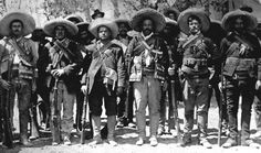 Pancho Villa poses with some of his fighters, just prior to his victory with Madero at Ciudad Juárez. Although Madero got the accolades and the presidency, it was the charismatic commanders, especially Villa and Zapata, who backed his cause that truly allowed him to triumph in the first stage of the Mexican Revolution.