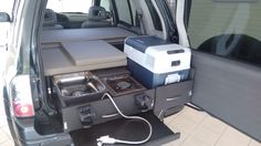 Chevy tracker microcamper (w toilet) Minivan Camping, Camping Box, Truck Camping, Mini Camper, Suv Camper, Camper Van, Grand Vitara, Montero 4x4, Accessoires Camping Car