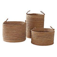 Laguna Seagrass Baskets – Set of 3 | Serena & Lily