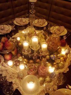 Diner #findining #ralphnuss #artdelatable #candles #tablessettings #noel #christmas #vintage