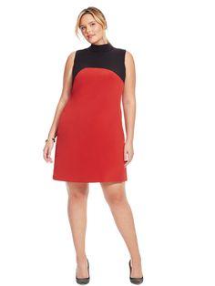Mock Neck Mod Dress