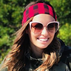 Red and Black Buffalo Plaid Headband #style #headband #buffaloplaid #noheadacheheadband #comfortable #fall #fallfashion #fashiontrend #niarader #youtuber #falllooks